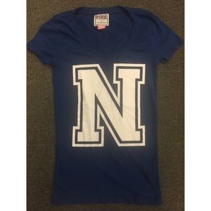"Victoria's Secret PINK | ""N"" for Navy tee G20"